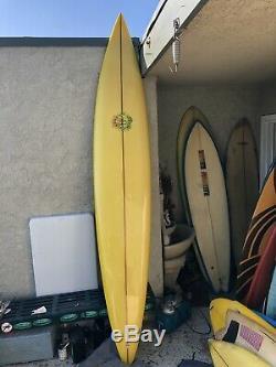 104 Brewer Owl Chapman Vintage 1980s Singlefin Hawaii Gun Surfboard