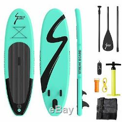 10Inflatable Non-slip Stand Up Paddle Board Surfing SUP Boards withBackpack Leash