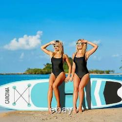 10.5ft Inflatable Stand Up Paddle Board Surfboard Non-Slip + complete kit Blue