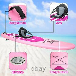 10.6 Inflatable Stand Up Paddle Board SUP Surfboard complete kit Seat Pump