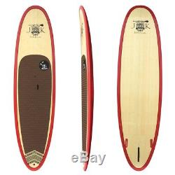 10' 6 x 33 x 4 3/4 Bamboo Epoxy Stand Up Paddle Board SUP Package 10ft 6in