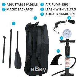 10'Inflatable Non-slip Stand Up Paddle Board Surfing SUP Boards withBackpack Kit
