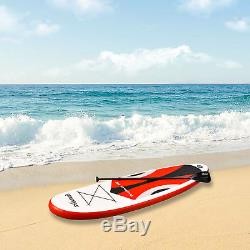 10' Inflatable SUP Stand up Paddle Board Surfboard Adjustable Fin Paddle Red