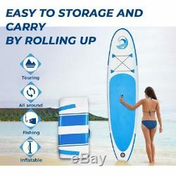 10' Inflatable Stand Up Paddle Board SUP Surfboard All Around with complete kit