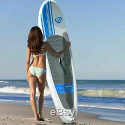 10' Inflatable Stand Up Paddle Board SUP with Adjustable Paddle Travel Backpack