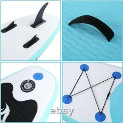 10' Inflatable Stand Up Paddle Board Surfing SUP Boards, No Slip Deck 6'' Thick