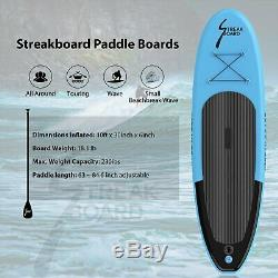 10'Inflatable Stand Up Paddle Board Surfing SUP Boards Non-slip Deck 6 Thick US
