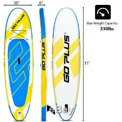 10' Inflatable Surfboard Stand Up Paddle Board Water Pool Surfing Board WithBag