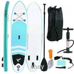 10ft Inflatable Stand Up Paddle Board SUP with Adjustable Paddle, Pump Backpack