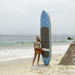10ft Inflatable Stand Up Surfing Paddle Board iSUP Adjustable Surfboard