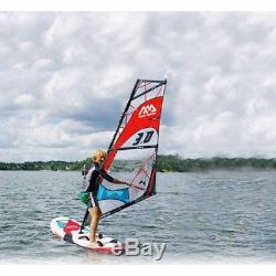 10ft Windsurfing Stand Up Board With Paddle Set For Surfing Sailing Water Sports