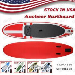 11'/10' Inflatable Stand Up Paddle Board (6 Thick) withSUP Accessories&Carry Bag