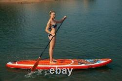 11.5' Koi Fish Inflatable Stand Up Paddle Board SUP Surfboard With Kit 6'' Thick
