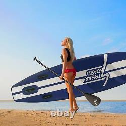 11'6'' Inflatable Stand Up Paddle Board Premium SUP Full Set Non-Slip Wide Deck