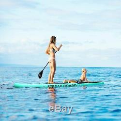 11'Inflatable Non-slip Stand Up Paddle Board Surfing SUP Boards withBackpack Leash