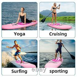 11 Inflatable Stand Up Paddle Board SUP Surfboard with complete Kit Pump Pink