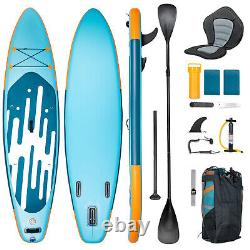 11' Stand Up Paddle Board Inflatable Hydro-Force Wave Edge SUP Surf Blue All Kit