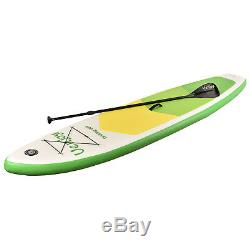 11ft Inflatable SUP Stand up Paddle Board Surfboard Adjustable Fin Paddle Green