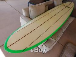 1970's Vintage HOBIE 10' SurfBoard TRIPLE STRINGER Wood Tail Deck LongBoard NICE