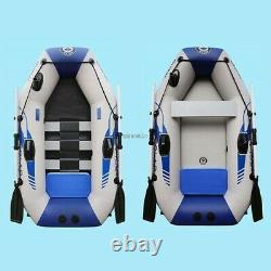 1-2 Person PVC Inflatable Boat Dinghy Fishing Rowing Boat Drifting Surfing Boat