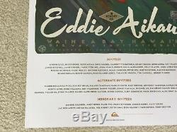2014 Mint Original Eddie Aikau Waimea Hawaii Big Wave Surfing Contest Poster