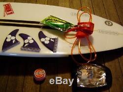 5'1 Channel Islands Surfboard Average Joe by Al Merrick with accessories
