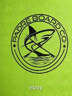 66 Surfboard Fishtail IXPE Soft Top Foam, Leash, 3 Fins, Color Lime Green