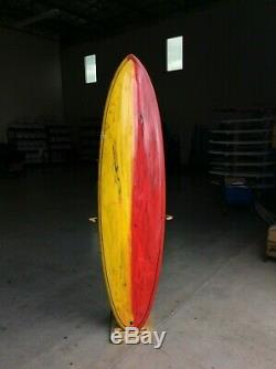 6'10 Funboard Surfboard FCS SANE Thruster Fin Traditional Glass Poly PU