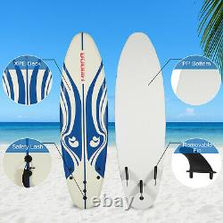 6' Surfboard Surf Foamie Board Surfing Beach Ocean Bodyboard Outdoor Sports Blue