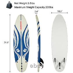 6 Surfboard Surfing Board Stand Up Paddle Bodyboard for Beach Ocean Water Sport