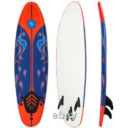 6ft Surfboard Stand Up Surfing Paddle Board SUP Ocean Beach Kid Adult Freshman