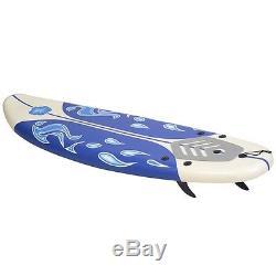72 x 20 x 3 Surf Foam Boards Surfing Beach Surfboard Durable Foam Top Sports