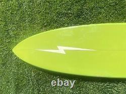 76 Lightning Bolt Shaped By Kent Smith Hawaii Vintage Surfboard