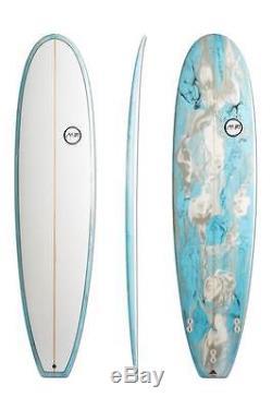 7'6 8'0 Funboard Blue Swirl Tint Surfboard