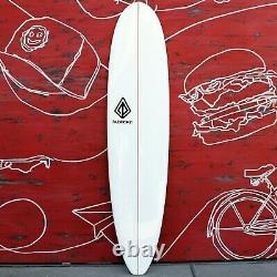 7'6 Mini Log Surfboard White