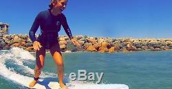 7'8 Mini Longboard Pink Gray/Epoxy Paragon Surfboards
