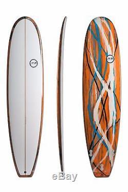 7'8 x 22.25 x 3 Funboard Orange Swirl Surfboard