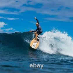 8' Foam Surfboard Waterproof EPS Foam Core HD Polyethylene Slick Bottom