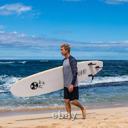 8 ft Foam Surfboard Waterproof EPS Foam Core HD Polyethylene Slick Bottom