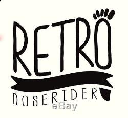 9'0 Retro Noserider Longboard Blue White Blue/Epoxy Paragon Surfboards
