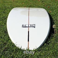 9'0 Retro Noserider Surfboard White