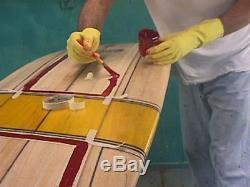 9'1 Bud Gardner Balsawood Surfboard With Resin Art
