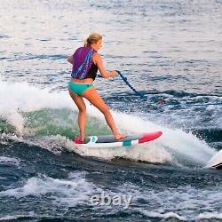 Airhead AHWS-04 Charge Wakesurfer Board White Pink Teal Water Sport Wake Surf