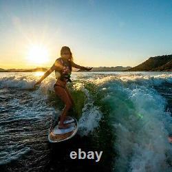 Airhead AHWS-F01 Bonzai Wakesurfer Woody Style Surf Board Wake Surf Watersport