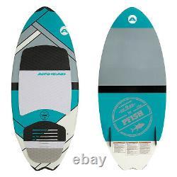 Airhead AHWS-F02 Pfish Skim Wakesurf Board Wake Surf Water Sport Grey Turquoise
