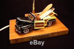 Awesome 1946 Convertible Ford Sportsman Woody Lamp Wood Surfboards Bamboo Base