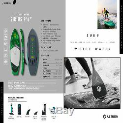 Aztron SIRIUS White Water/SURF Inflatable SUP 9'6 Double Chamber & Layer