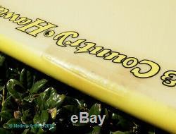 BEN AIPA HAWAIIAN T&C Custom SURFBOARD 6' 6 GERR BEVEL Thruster 1987 SIGNED