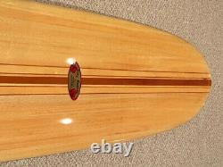Balsa Surfboard, Donald Takayama Custom StepDeck, one a kind, hand shaped/signed