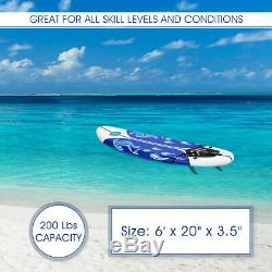 Beach Surf Board Paddle Stand Ocean Adult Freshman Thick Water SUP WithAccessories